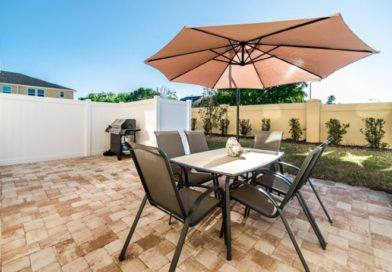 A beautifully set outdoor area at a Go Blue Travel resort in Orlando, Florida