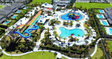 Bird eye view of encore resort and waterpark