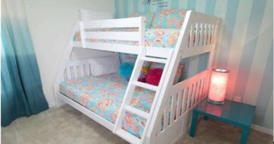children's twin bed in a rental vacation home