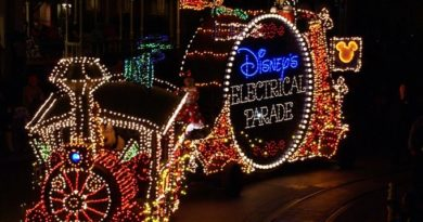 Electrical parade at the Hollywood Studios